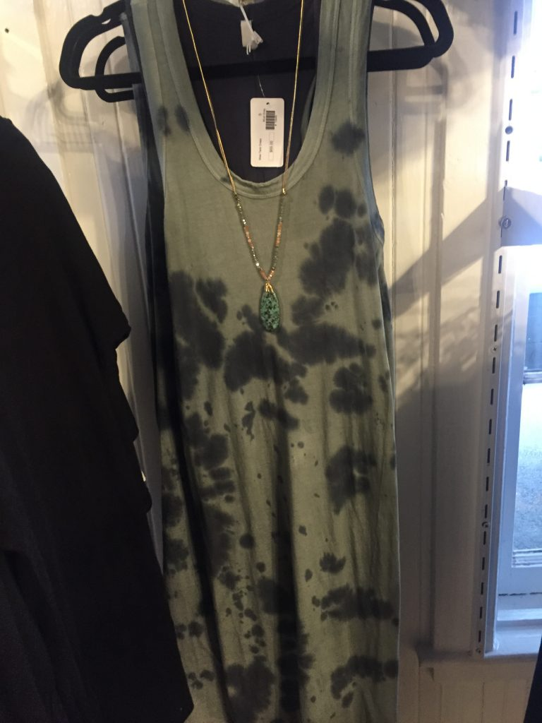 This tie-dye maxi is the perfect combination of dressy and casual.
