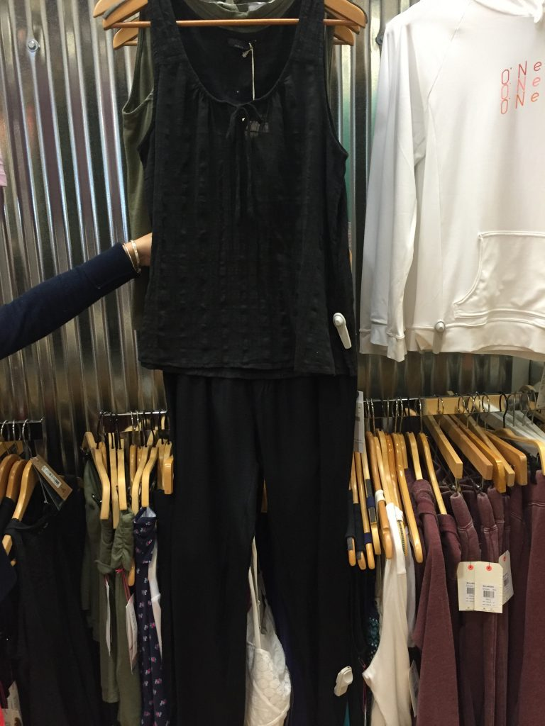 This all black beachy ensemble is a perfect nod to the monochromatic trend and is from Mocean in Mashpee Commons.